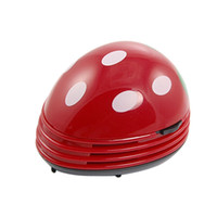 Wholesale Dots Red Green Strawberry Vacuum Desk Mini Dust Cleaner