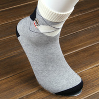sock monkey - Embroideried Monkey Geometric Solid Casual Mens Socks Pairs European Size High Quality Standard Men Sock