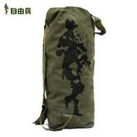 Wholesale new arrive free spring Soldier tactical canvas backpack Men Travel Bags brand male Travel duffle bag