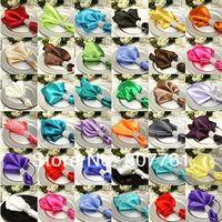 dinner napkin - 30 piece Satin Dinner Napkin Handkerchiefs Wedding Party Decor Craft mouth cloth colorful napkin