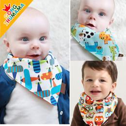 Wholesale 100 cotton baby adjustable bibs