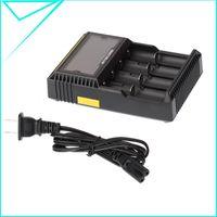 Wholesale 2015 New Nitecore D4 Digicharger LCD Display Battery Charger Universal NiteCore Charger Fit Li ion LifeP04 Ni MH Ni Cd Batteries H13124