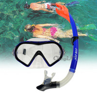 Wholesale JIEJIA Swimming Diving Glasses Protective Goggle Breathing Tube Snorkeling Mask Dry Snorkel Set