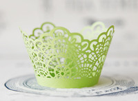baked lighting - light green cut hollow lace wedding cupcake wrappers color paper mini cupcakes cup cake baking cups wrapper