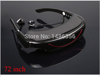 Wholesale 2014 New inch Wide Screen play Portable Wireless Video Glasses PS2 PS3 Xbox Wii Game Cube Mobile Theatre with AV in for FPV