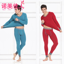 Wholesale Sexy Mens modal Long Johns Warm Trousers Bottoms Thermal Underwear Pants Tops T Shirts V Neck Long Sleeve plus big size