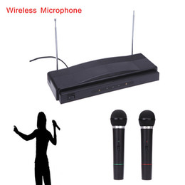 Wholesale Professional Wireless Mic Microphone Remote System Kit with FM Transmitter Receiver Audio Cable for KTV Teaching Show I519