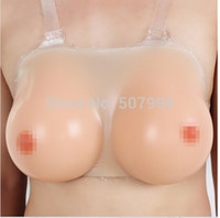 silicone breast forms - 800g C cup Silicone False Breast Boobs Forms Transvestites Enhancer Insert Artificial Breasts cosplay accessories Breast Form F G
