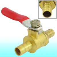 ball valve brass - Full Port mm Dia Barb Hose Red Lever Handle Brass Ball Valve