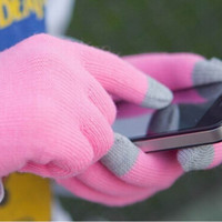 Wholesale Unisex Touch Screen Stretchy Soft Warm Winter Gloves for Mobile Phone Tablet Pad