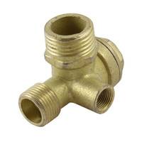 Wholesale 21mm mm Male Threaded Dia Brass Air Compressor Check Valve Gold Tone