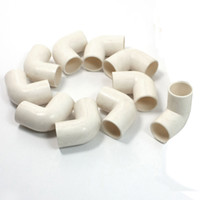 Wholesale 10 mm Inner DiaMmeter Degree Elbow PVC Pipe Connectors White