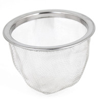 wire basket - 63mm Silver Tone Stainless Steel Wire Mesh Tea Leaves Spice Strainer Basket