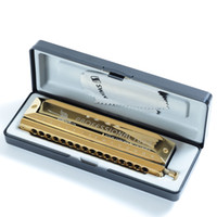 Wholesale Swan16 holes sound chromatic harmonica gold