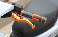 Wholesale Motorcycle Universal mm quot Carbon Fiber Handle Bar Hand Grips Bar Ends Colors