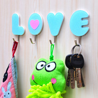 Acrylic candy color LOVE strong plastic hook Creative hangin...