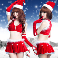 Wholesale 2014 women costume santa claus Christmas clothes adult female christmas installation sexy costumes set ds costume