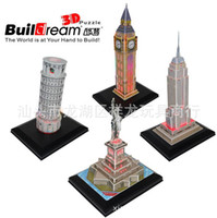 Wholesale 3D LED Lighting Puzzle The famous building Puzzle Toys D DIY Pluzzle for years Old chirdren