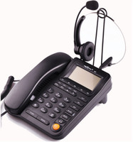 Wholesale Office call center business headphones telephone with RJ socket telephone receiver with volume mute headsets