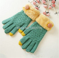 Wholesale Gloves Phone Screen Touch Gloves Mittens For Ladies Gilrs Women Colors Optional Beautiful Soft Warm Hand