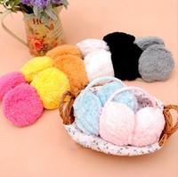 Wholesale Black Earmuffs for Female or Male Winter Earmuffs Warm Your Ear Fleece Cotton Adult Earmuffs