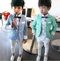 Cheap Children's clothing sets Suits & Blazers new 2014 Polka Dot Gentleman boys Casual Jackets coats+pants=2pcs for 2-7T kids
