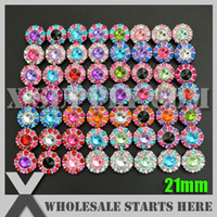 acrylic center - mm Acrylic Rhinestone Button for Headband Flower Center Assorted Colors in Silver Base with Shank