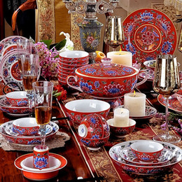 Wholesale Dinnerware Sets Enjoy the master works of Royal Porcelain series skull porcelain tableware coverall business gifts