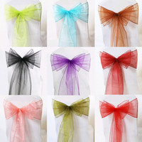 Wholesale High quality x cm quot x quot Organza Chair Sashes Bow Wedding and Events Supplies Party Decoration Banquet Decor Bow