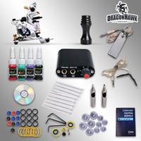 Wholesale Complete Beginner Tattoo Kit Machine Guns Inks Needles Tattoo Power Supply D1025GD