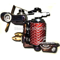Wholesale Unique Pro Handmade Craft Tattoo Machine Gun for Liner Wrap Coils WS M334 for beginner tattoo kits supplies