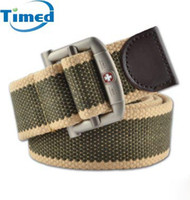 Wholesale fashion fabric Classic outdoor casual canvas belt male female all match strap thickening fashion belts