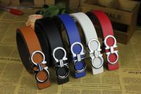 Wholesale New Designer Famous Brand Luxury Belts Women Men Belts Male Waist Strap Faux Cowskin Leather Alloy G Buckle Belt Q84