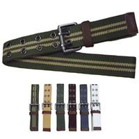 Wholesale Men s Western Sports canvas Belt Outdoor Fashion Tactical Webbing Belt colour y05
