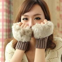 Wholesale new autumn summer winter korean style lovely fashion thickened warm knitted wool female mittens for women girls