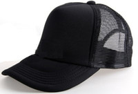 Wholesale Unisex Classic Trucker Baseball Golf Mesh Cap Hat All Black Color