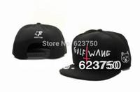 Wholesale Hot New Odd Future Golf Wang Snapback Hat Black Fashion Street Hip Hop Caps top quality men women baseball Hats