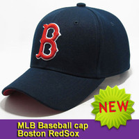 Wholesale New bulk Mlb baseball caps red sox cap with letterB sunbonnet outside sport cap hiphop hat male female baseball cap