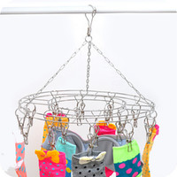 Wholesale Solid stainless steel clip dryer Wind dry socks underwear drying rack Clotheshorse socks clip JC41