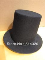Wholesale A006 Black Mini Top Tall Hat High cm Millinery Fascinator Base DIY Craft Alligator Clips
