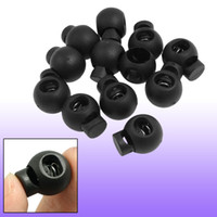 cord stoppers - 12 mm Diameter Spring Loaded Plastic Round Toggle Stopper Cord Locks