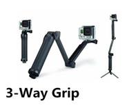 camera grip - Go pro extension pole arm Way Grip Monopod Tripods For Gopro Hero hero3 SJ4000 Camera Accessories