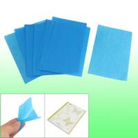 blotting paper - 80 Yellow Butterfly Decor Bag Blotting Paper Oil Absorbing Sheets Blue