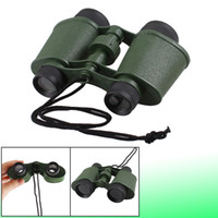 Wholesale Students Army Green Plastic Binoculars Telescope Toy w Neck Strap