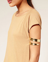 Wholesale Min Latest upper arm bracelet cuff gold and silver color available for women