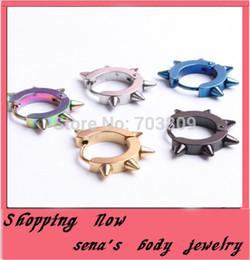 New Fashion Men Lady Spike Rock Clip Ring Earrings Stainless Steel Hoop Ear Studs