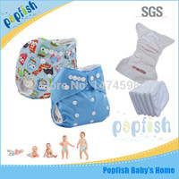 Wholesale Popfish Printed PUL Fabric Waterproof Disposable Washable Diaper Baby Diaper Cloth Nappies Fashion Diaper