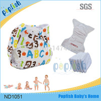 Wholesale Baby Infant Print Cloth Diaper Nappies Washable Adjustable Cover pc pc of Layer Inserts Modern Nappies