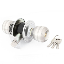 Wholesale Silver Tone Ball Knob Bedroom Door Lockable Lock w Spring Bolt
