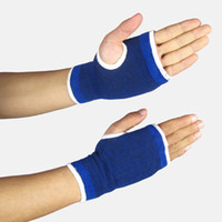 wrist support - Nylon Wrist Gloves Hand Palm Gear Protector Elastic Brace Gym Sports Support Pair H14510